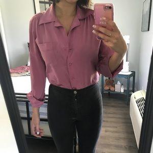 Vintage pink disco blouse